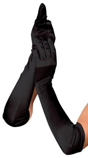 Black Elbow Length Luna Gloves