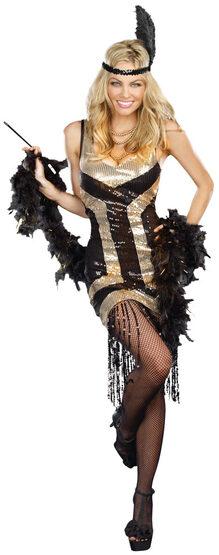 Sexy Bootleg Ginny 1920s Costume