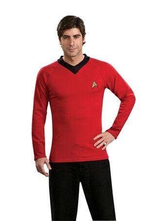 Star Trek Deluxe Red Adult Shirt
