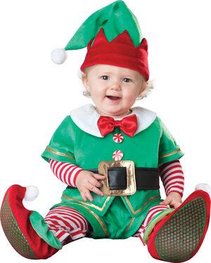 Santas Lil' Elf Christmas Baby Costume