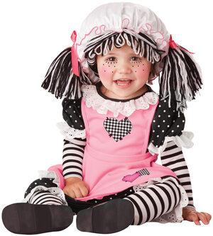 Pretty Pink Rag Doll Baby Costume
