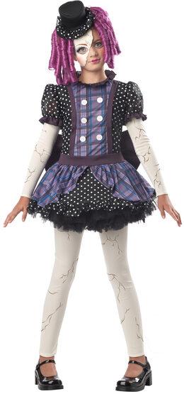Broken Doll Gothic Kids Costume