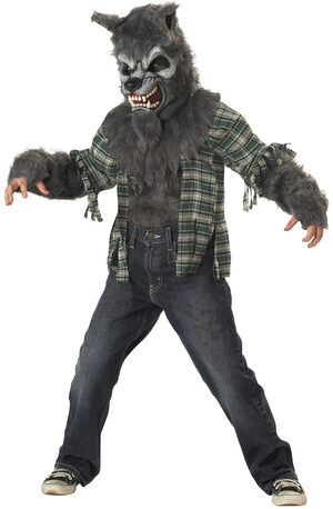 Howling at the Moon Werewolf Kids Costume