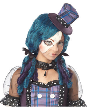 Gothic Broken Doll Tween Kids Costume