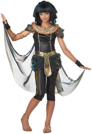 Dark Egyptian Princess Tween Kids Costume