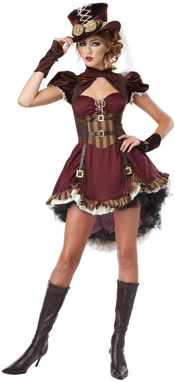 Victorian Steampunk Girl Teen Costume