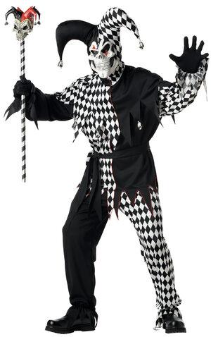Evil Jester Scary Adult Costume