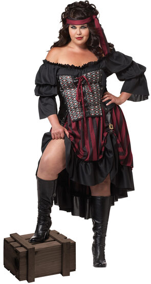 Womens Theiving Pirate Wench Plus Size Costume