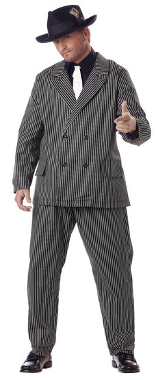 Mens Greedy Gangster Plus Size Costume