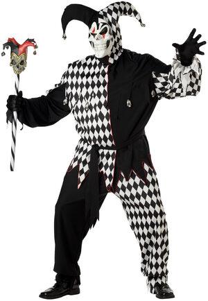 Scary Clown Jester Plus Size Costume