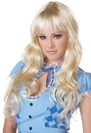 Sally Long Wavy Blonde Wig
