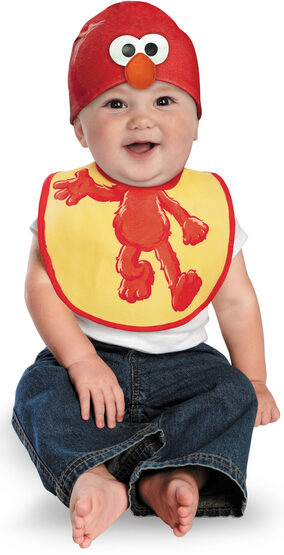 Elmo Bib and Hat Baby Costume