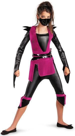 Girls Dark Ninja Kids Costume