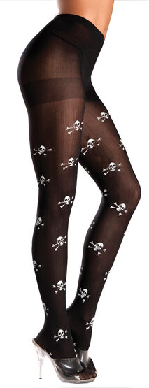 Skull and Crossbones Pirate Pantyhose