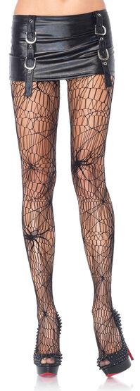 Black Widow Spiderweb Pantyhose