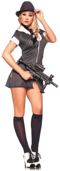 Sexy Mafia Mistress Gangster Costume