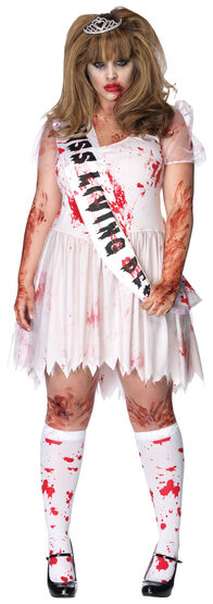 Putrid Zombie Prom Queen Plus Size Costume