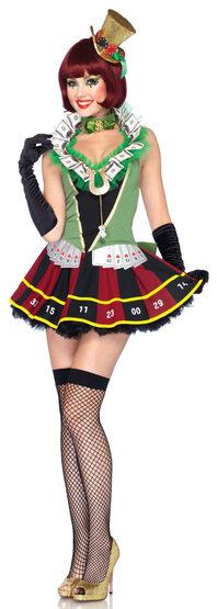 Sexy Lucky Lady Clown Costume