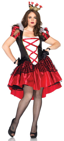 Royal Red Queen of Hearts Plus Size Costume