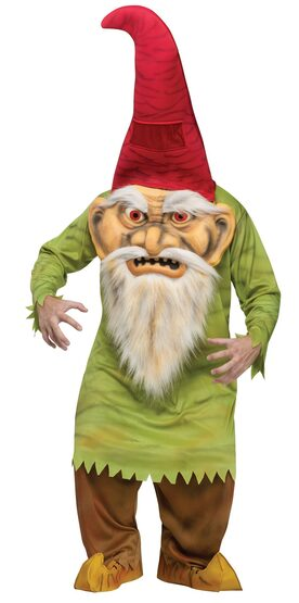 Scary Big Head Gnome Adult Costume