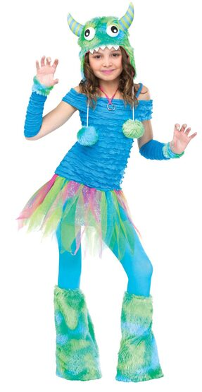 Blue Beastie Monster Kids Costume