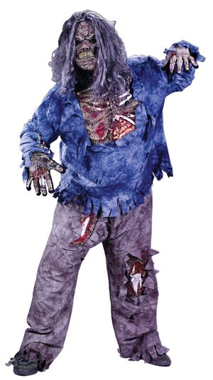 3D Wounded Zombie Plus Size Costume