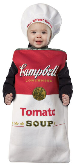 Campbell's Tomato Soup Can Baby Costume