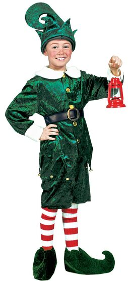 Holly Jolly Elf for Santa Kids Costume