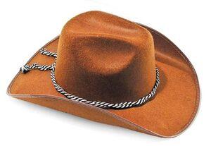 Mens Brown Cowboy Hat