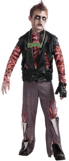Boys Zombie Punk Rocker Kids Costume