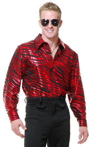 Zebra Disco Shirt Adult Costume