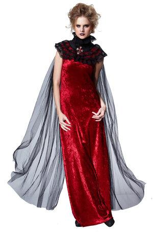 Gothic Queen Black Lace Cape