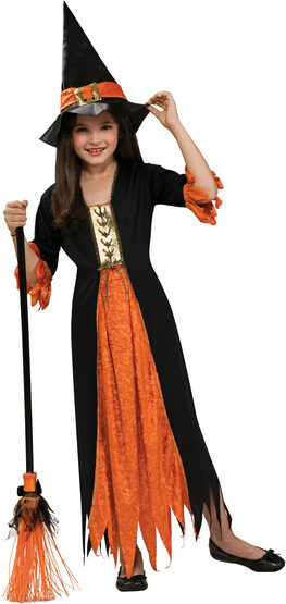 Girls Gothic Witch Kids Costume
