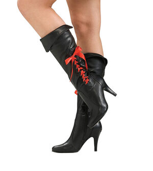 Womens Sexy Black Pirate Boots