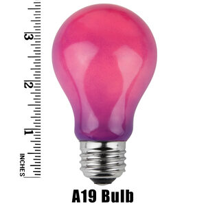 A19 Purple Opaque Replacement Bulbs