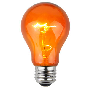 A19 Amber Triple Dipped Transparent Replacement Bulbs