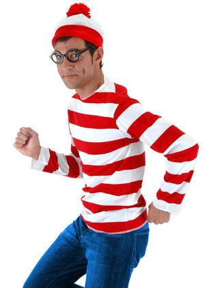 Mens Where's Waldo Funny Adult Costume