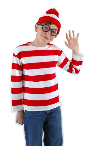 Kids Where's Waldo Funny Kids Costume