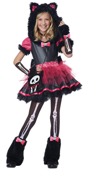Kit the Kat Skeleton Kids Costume