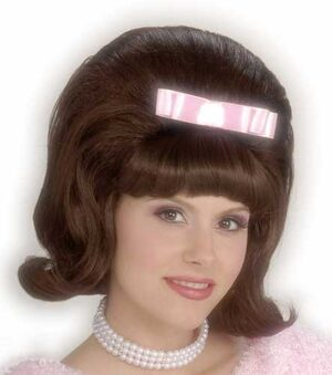Womens Bouffant Brown 50s Wig