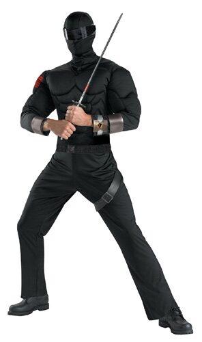 GI Joe Snake Eyes Muscle Chest Adult Costume