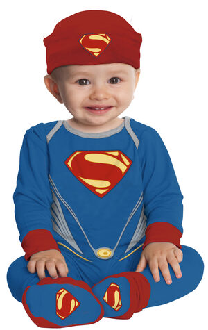 Boys Deluxe Superman Baby Costume
