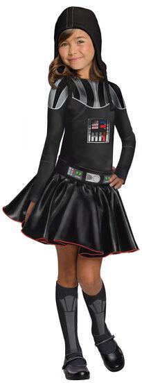 Girls Darth Vader Kids Costume
