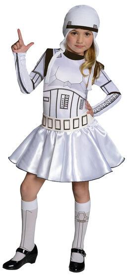 Girls Stormtrooper Star Wars Kids Costume