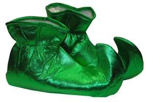 Green Elf Holiday Shoe Covers
