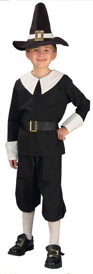 Historcial Pilgrim Boy Kids Costume