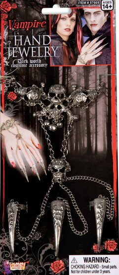 Gothic Skull Chain and Nail Jewelry