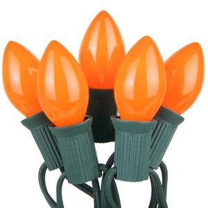 25 C7 Opaque Orange Halloween Lights