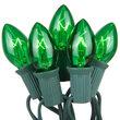25 C7 Transparent Green Halloween Lights