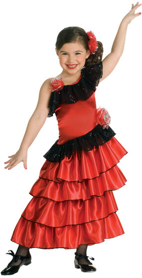 Girls Spanish Lolita Kids Costume